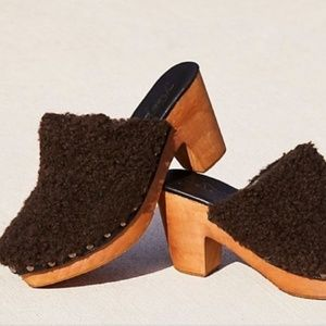 Free People Faux Shearling Clog